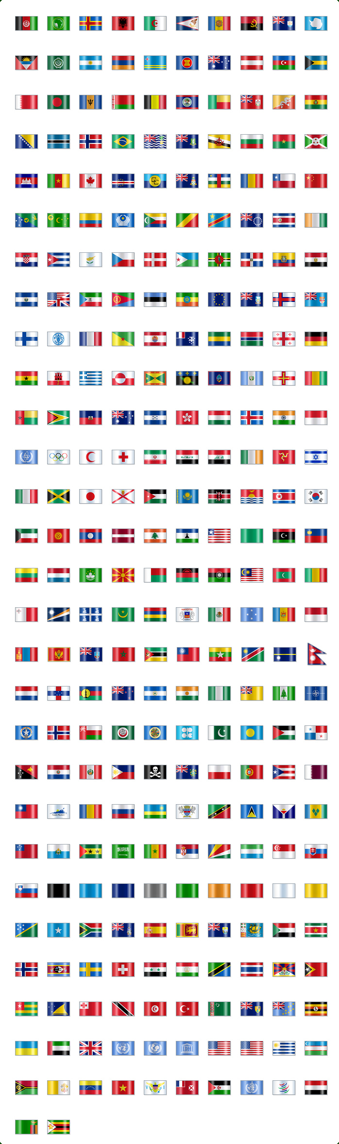 Exprimere Flags and Languages